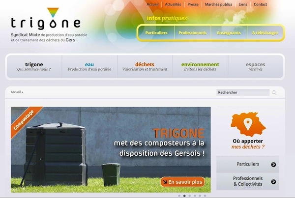Capture page Trigone